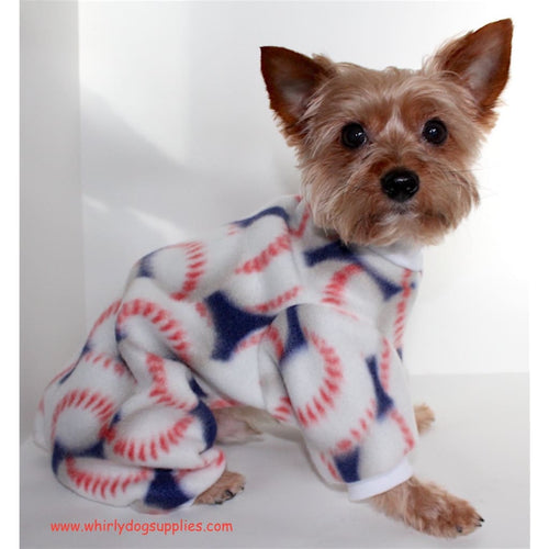 Baseball Dog Pajama Onesie Fun Sports Fleece Onesies For Dogs - Dog Pajamas