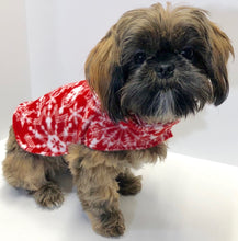 Load image into Gallery viewer, Snowflake Christmas Dog Hoodies, Red White Holiday Fleece Dogs Jacket