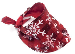 Christmas Dog Bandana, Pretty Red with White Snowflakes Holiday Bandanas Dogs
