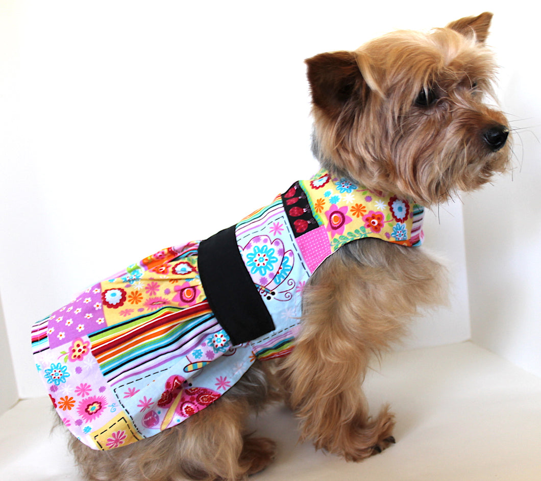 Floral Dog Dress, Pretty Colorful Print fashion dogs dresses