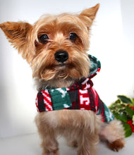 Load image into Gallery viewer, Country Christmas Dog Hoodie, Holiday Fleece Themed Hoodie