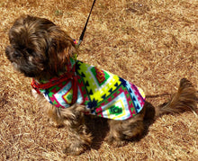 Load image into Gallery viewer, Fleece Dog Hoodie, Cute SouthWestern Style Print dogs jacket