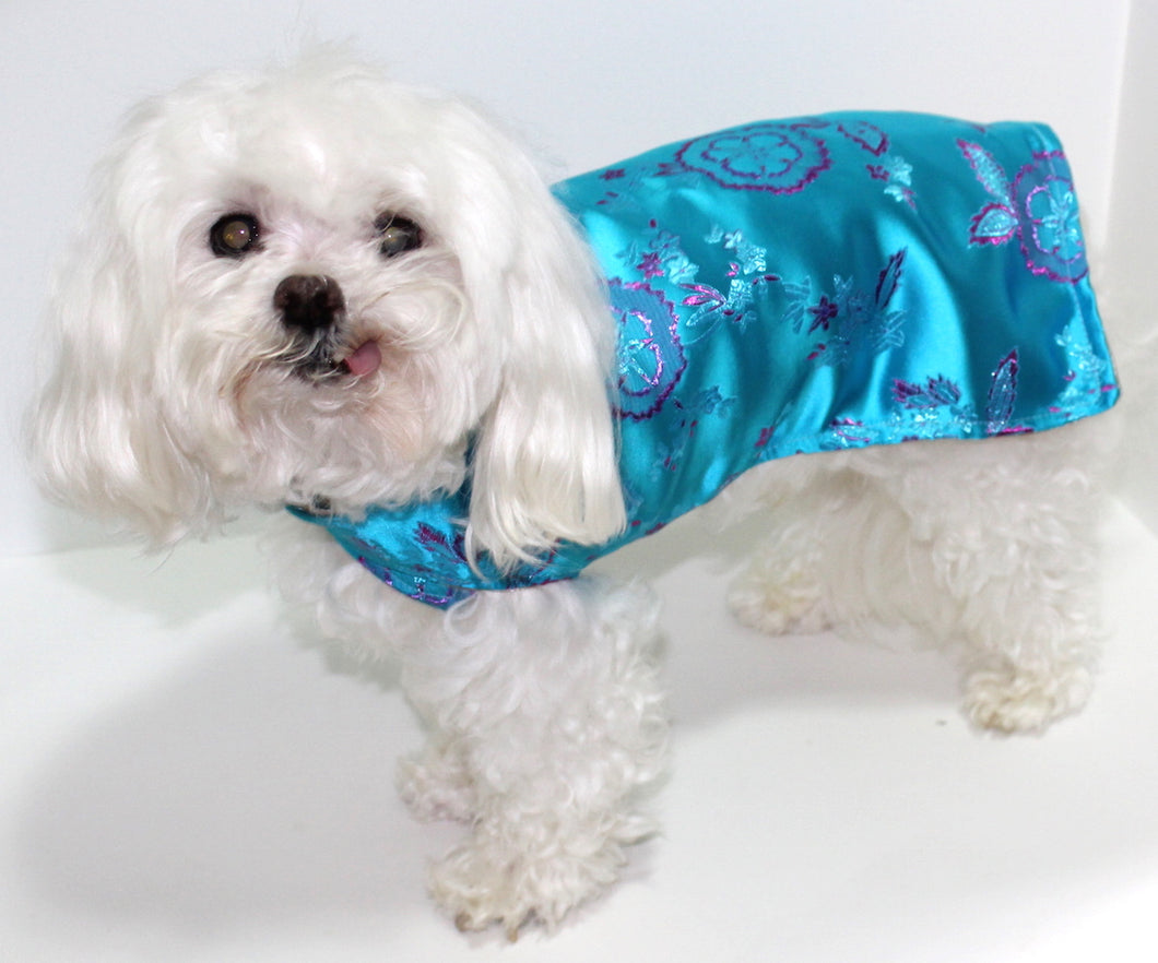 Satin Dog Shirt, Size Small dog jacket Kimono Inspired