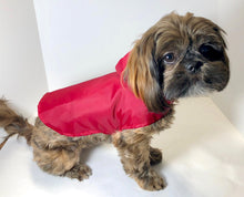 Load image into Gallery viewer, Dog Windbreaker Jacket, size XS Red or Yellow Nylon Dogs Hoodie