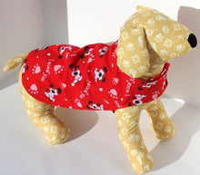 Load image into Gallery viewer, Dog Shirt Wrap, XS and S, Red LOVE Print, shirts for dogs, fashion designer