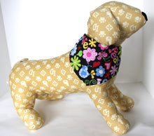 Load image into Gallery viewer, Dog Bandana, Peace Love, Floral Multi Color Dogs Bandanas Scarf