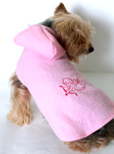 Load image into Gallery viewer, Cupid Dog Hoodie, Embroidered Pink Fleece Dogs Coat Jacket