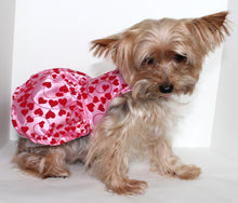 Load image into Gallery viewer, Pink Dog Dress, Satin Dogs Dresses, Heart Design