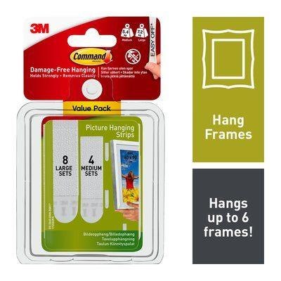 3M Command Hang Frame Strips