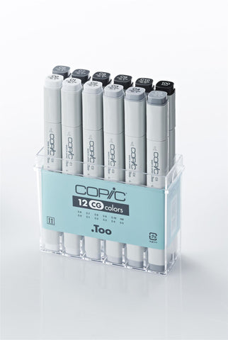 Copic Marker Cool Grey 12 Set