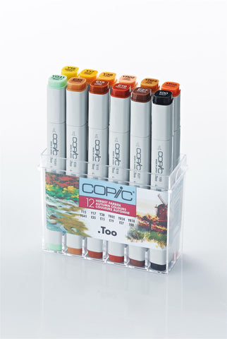 Copic Marker Autumn 12 Set