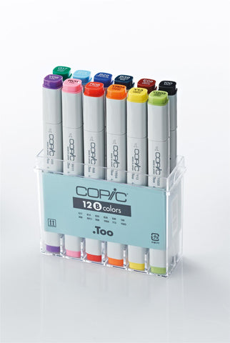 Copic Marker Basic Colour 12 Set