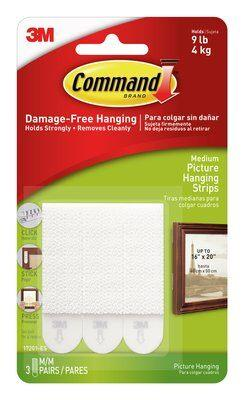 3M Command Medium Picture Hanging Strips 17201