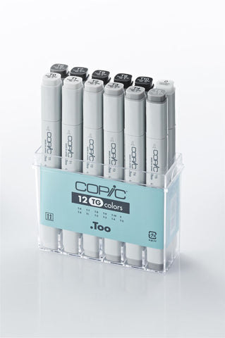 Copic Marker Toner Grey 12 Set