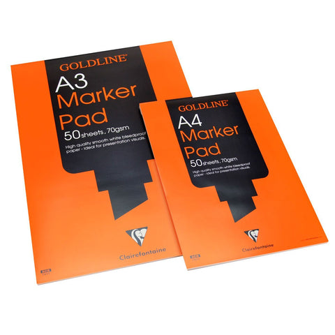 Goldline Marker Pads in A3 A4 bleedproof paper 50 leaves per pad