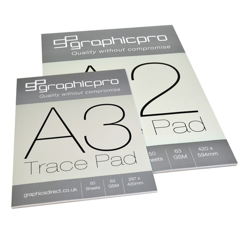 63gsm Tracing Paper pads in A2 A3 A4