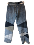 """TRIANGULAR PATCHWORK"" DENIMS"