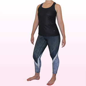 Malachite Performance Legging - 3/4 Length - All Yoga Pants