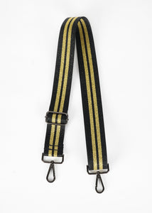 Black/Gold Striped Bag Strap