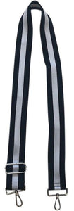Navy/White Vertical Stripe Bag Strap