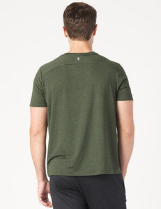 Men's Salton Short Sleeve Green Heather Stripe
