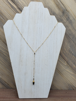 Smokey Quartz Spike Lariat Necklace