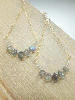 Labradorite Teardrop Soley Earrings