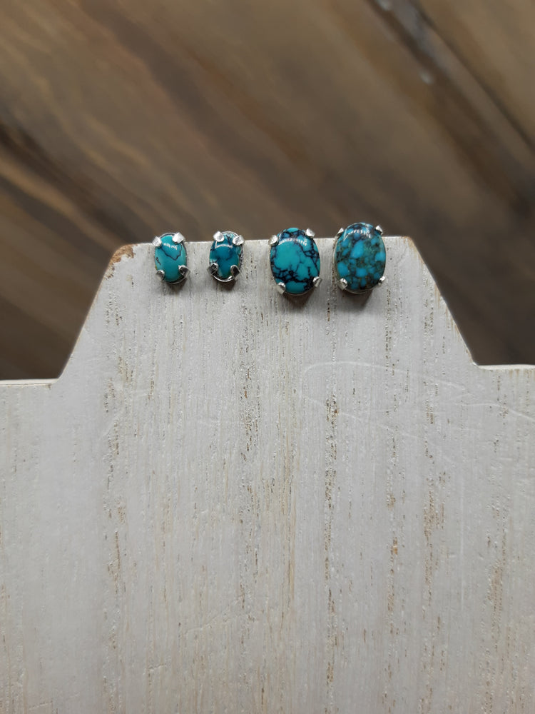 Within My Grasp Turquoise Studs