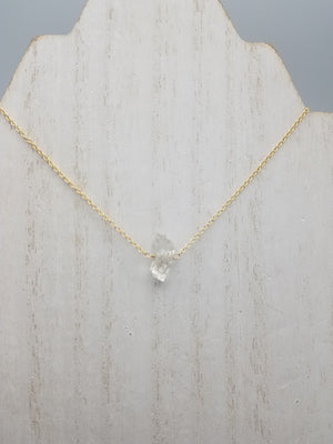 Herkimer Diamond Lucy Necklace on Gold