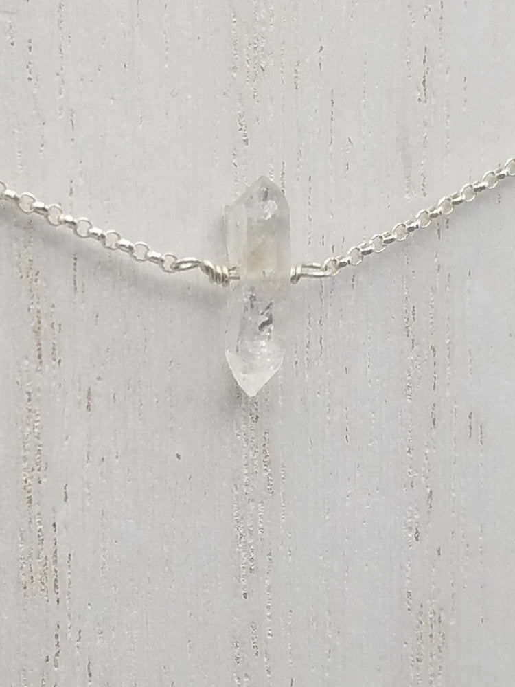 Herkimer Diamond Lucy Necklace on Silver