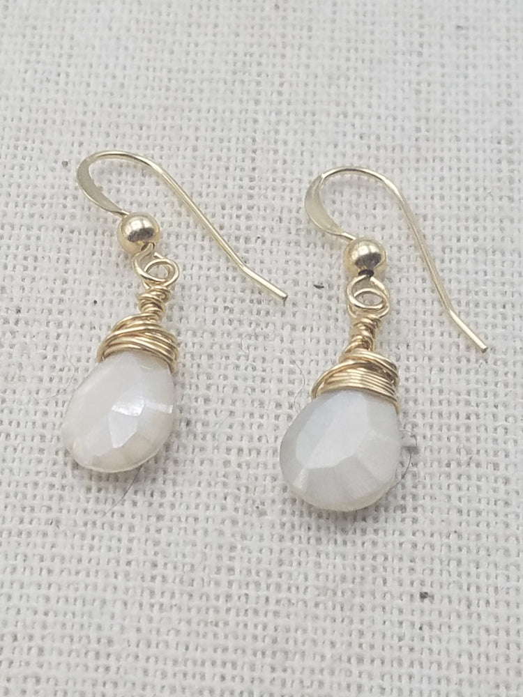 Silverite Angel Earrings