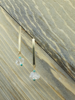 Herkimer Diamond Descent Earrings