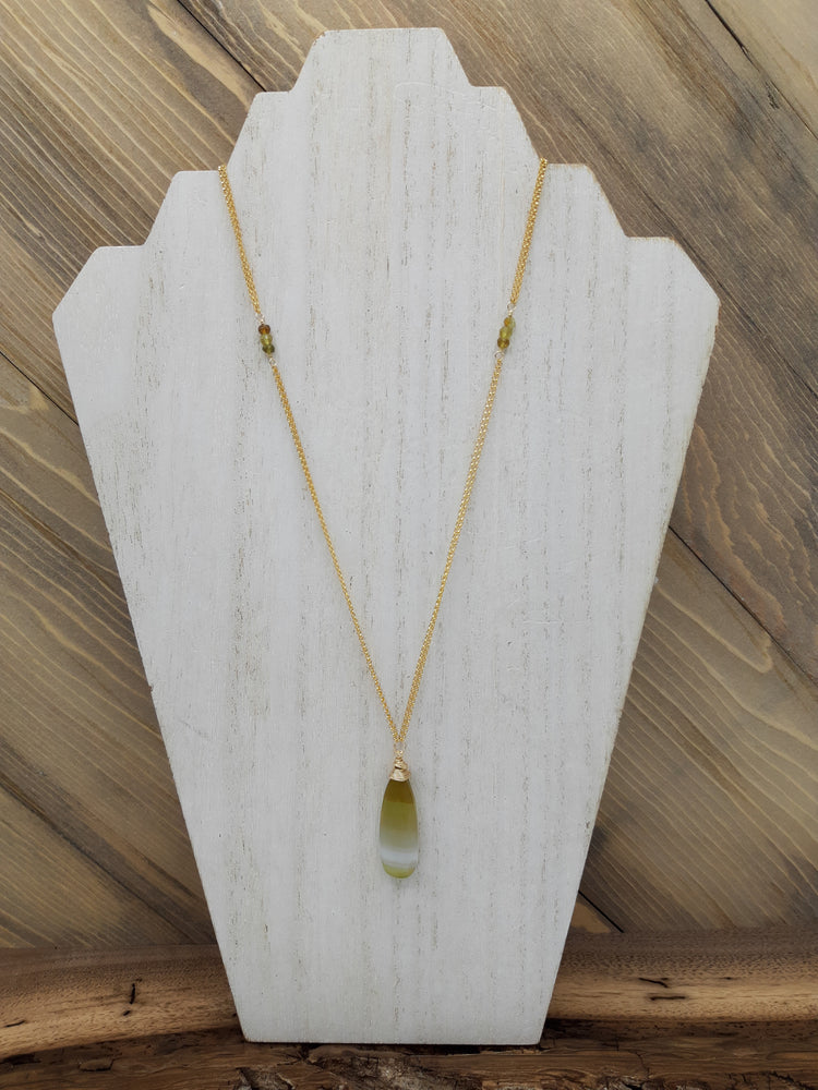 Striped Chalcedony Necklace