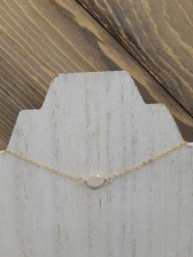 Silverite Center Bead Necklace