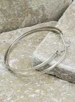 Hammered Sterling Silver Hoops with Lever