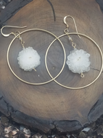 Stalactite Drop Gold Hoops