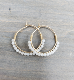 Quartz Mini Beaded Hoops