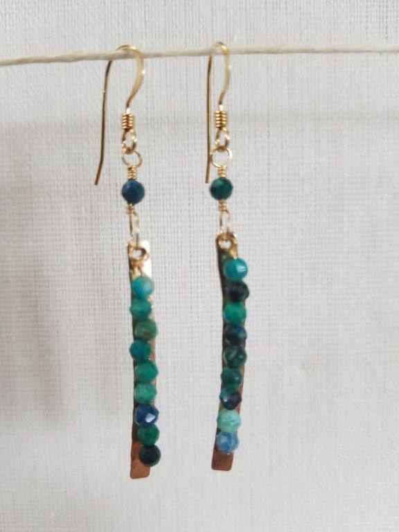 Chrysocolla Luisa Earrings