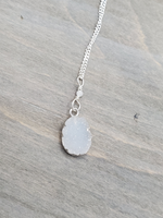Sterling Silver Druzy Charm Necklace