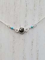 Pyrite and Turquoise Choker Necklace