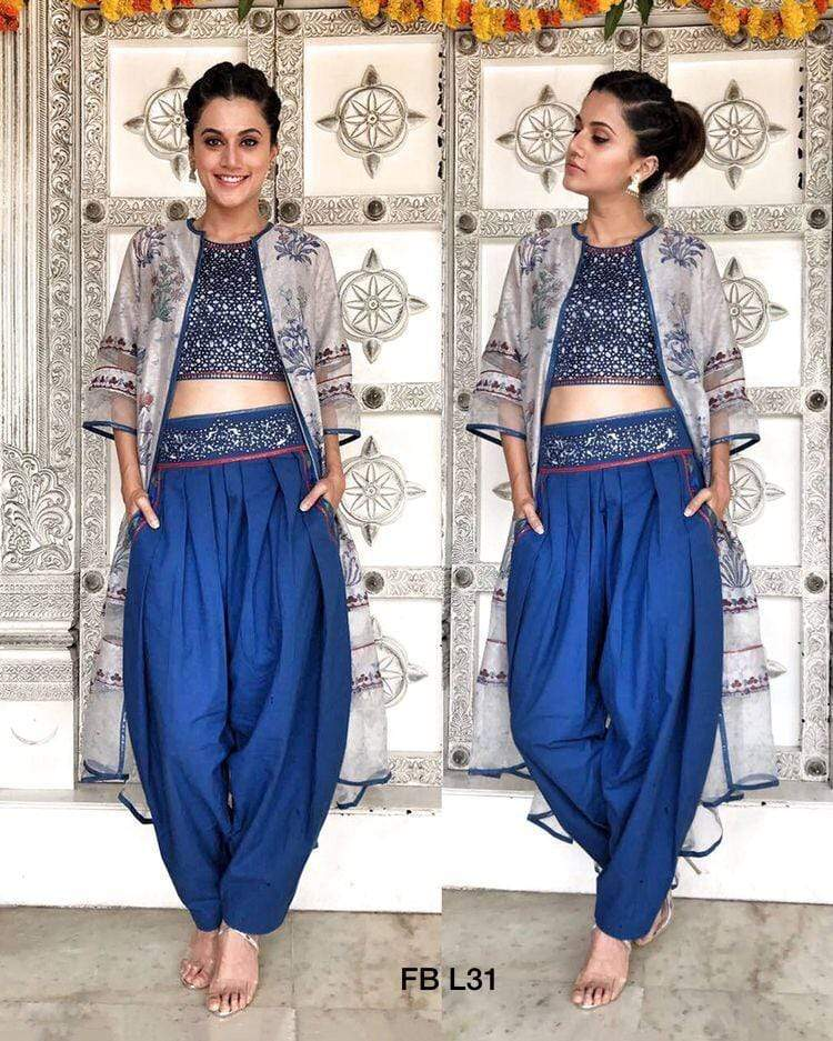 Gorgeous Blue Indowestern Set