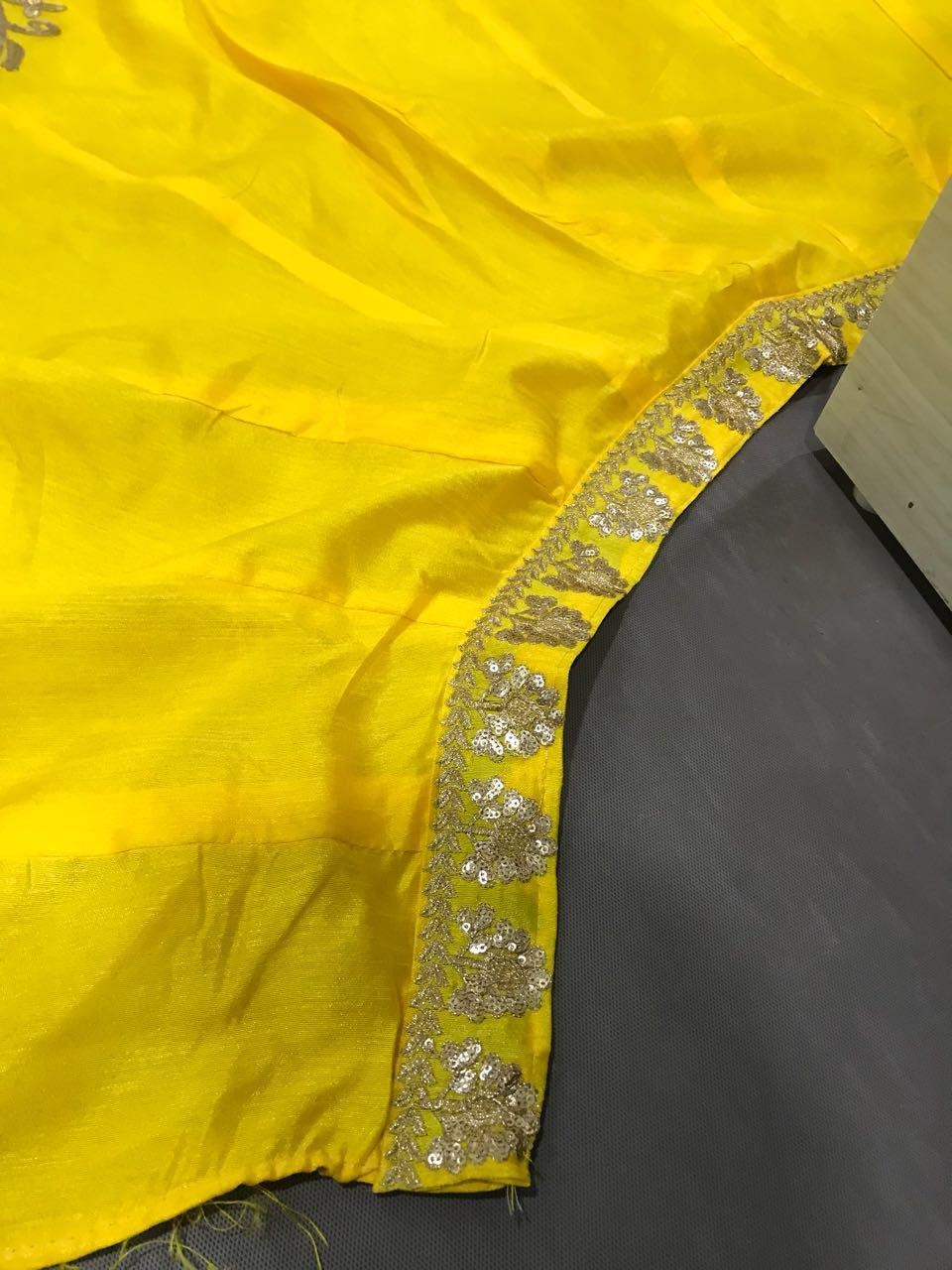 MnM Designer Hot Yellow Lahnga Choli