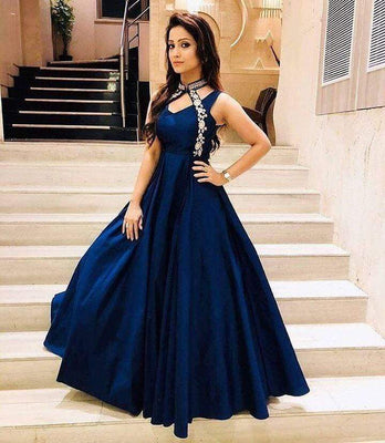 Gorgeous Designer Blue Gown