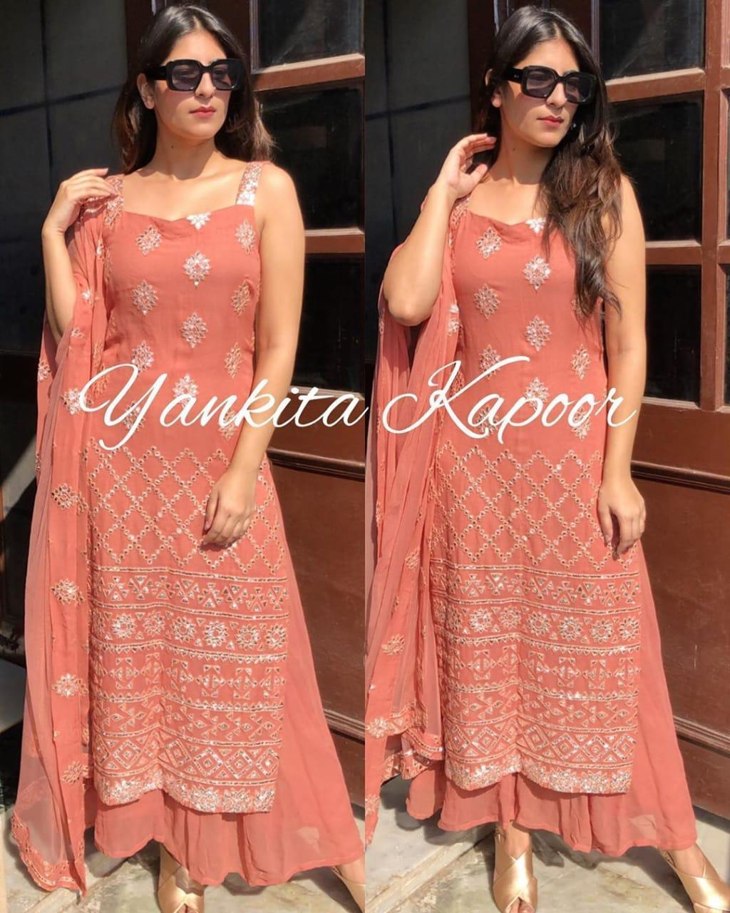 SE Designer Outfit Gorgeous Yankita Kapoor's Orange Kurti Plazoo Set