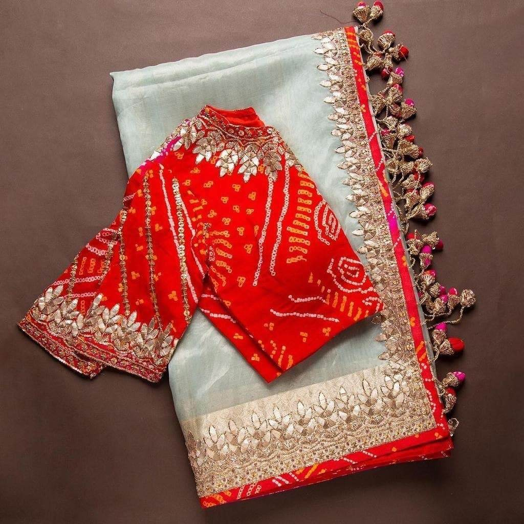 Beautiful Trending Organza Saree