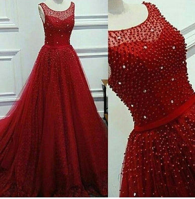 Red Pearl Gown