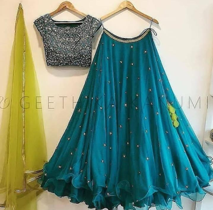 WuC Hot Selling Designer Green Lehenga Choli