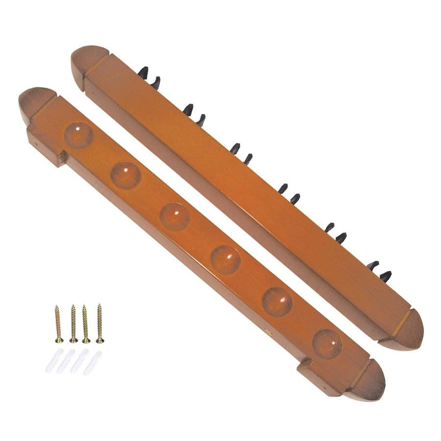 Pool Billiards Wall Mount Cue Rack (Holds 6 Cues) - SPORTS DEAL