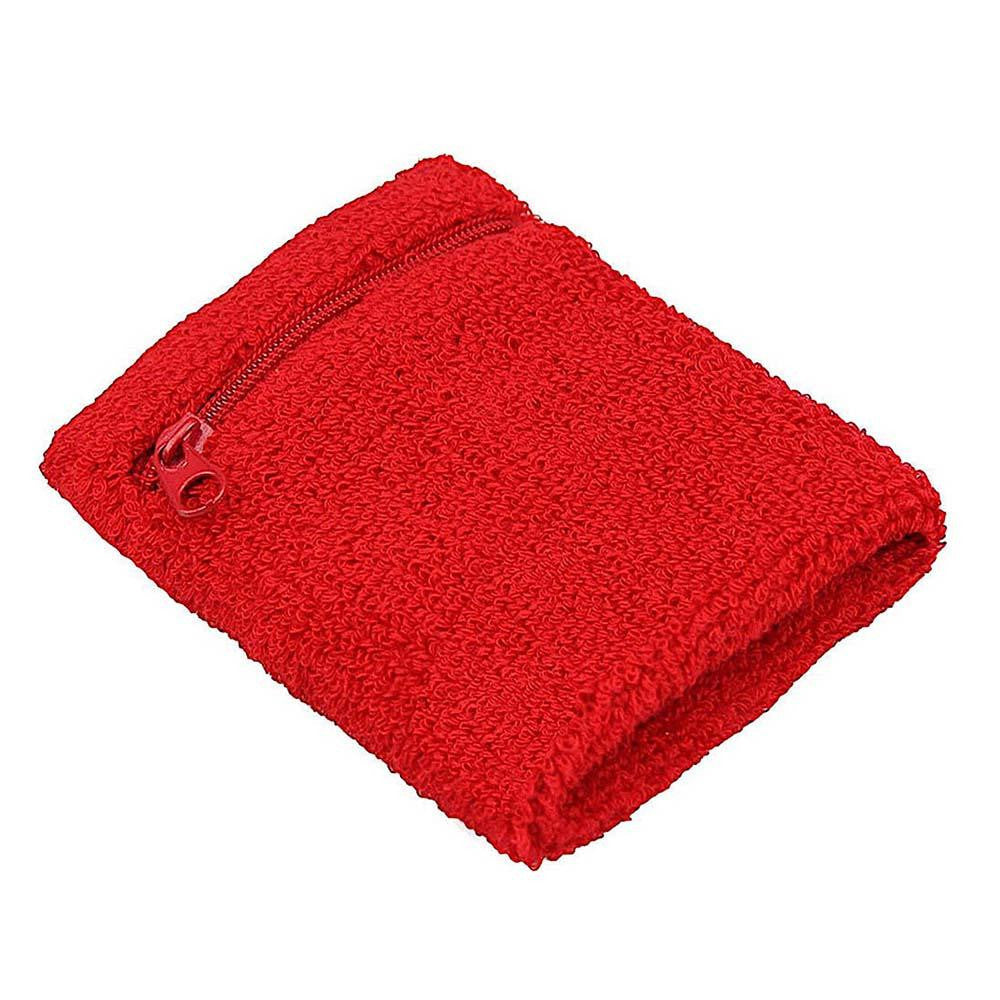 Sports Zipperd Pocket Wrist Sweat Band