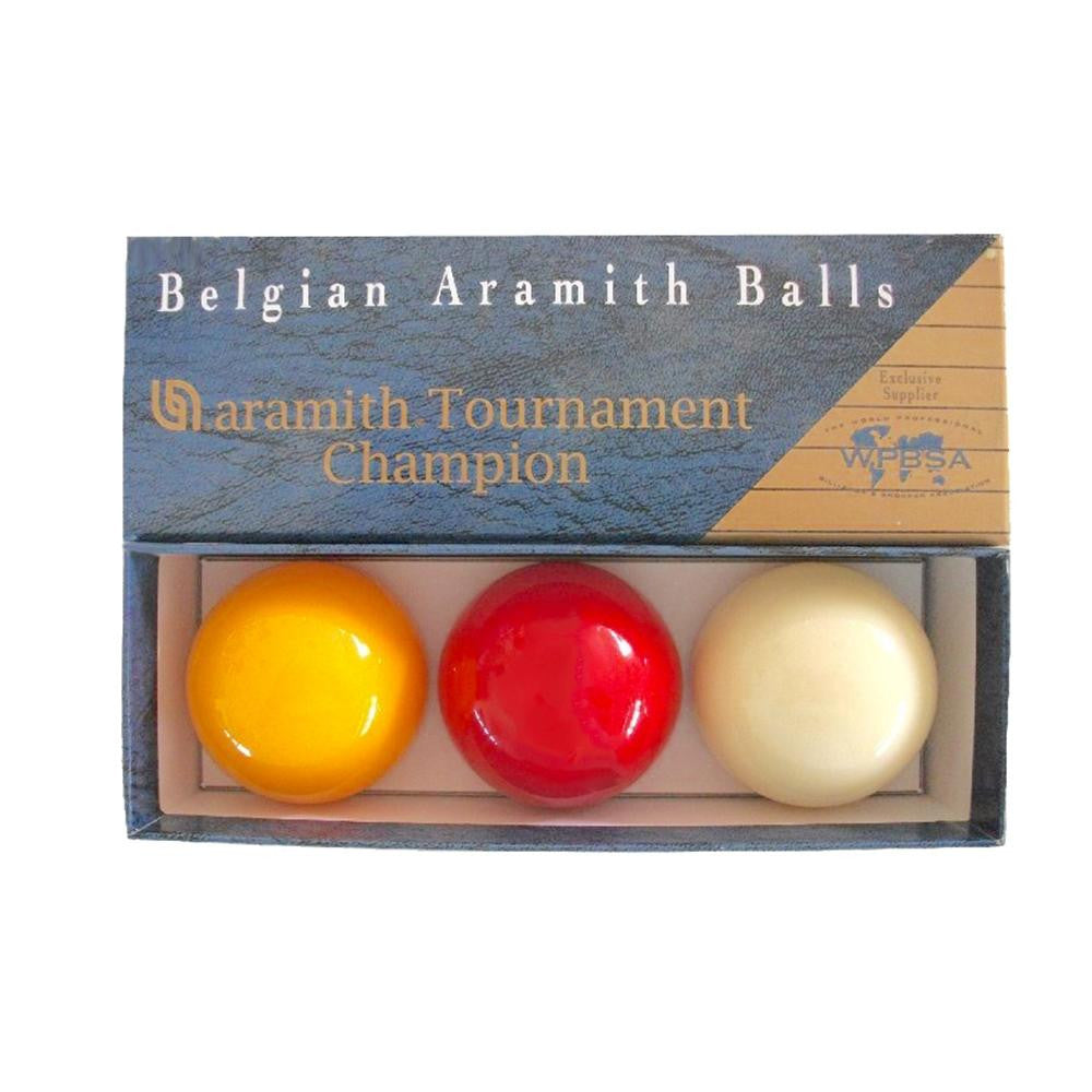 Aramith Tri Colour Tournament Champion Billiard Balls 2 1/16 Inch